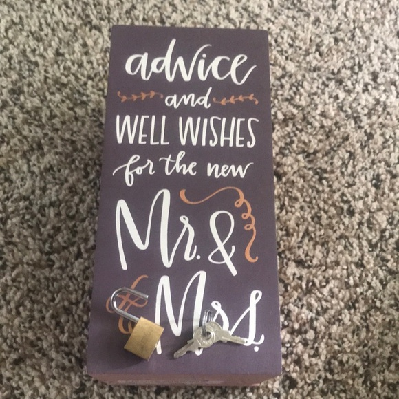 Primitive Other - Wedding Well Wishes Box By Kathy Wish